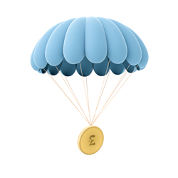 Coin in a parachute